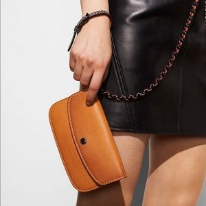 NEW: Coach Wristlet with removable chain strap
